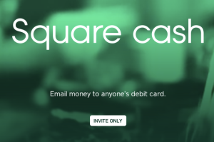 Square Cash splash page