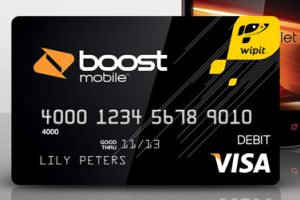 Boost Mobile Wallet prepaid card