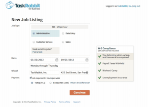 TaskRabbit screenshot