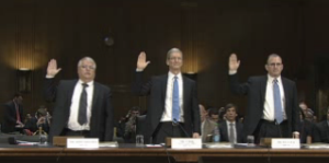 Apple executives Tim Cook testify Senate 2013