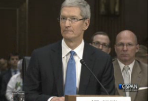 Tim Cook Senate testimony taxes