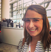 Eliza Kern Google Glass Google I/O screenshot