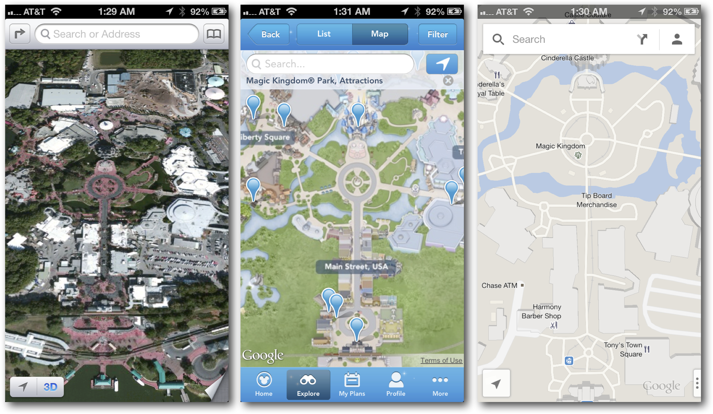 Searchable Maps of Nearby Attractions