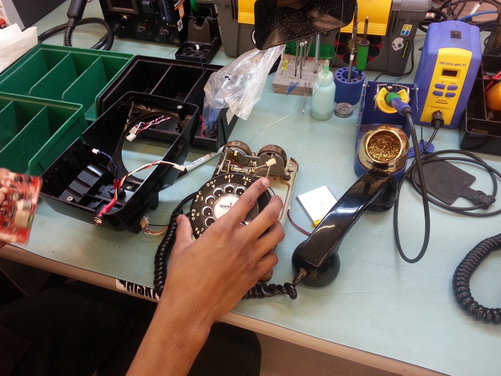 Building a digital rotary phone project at SparkFun.