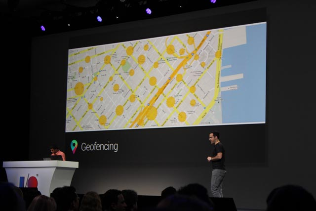 Google's new Geofencing API. Source: Janko Roettgers