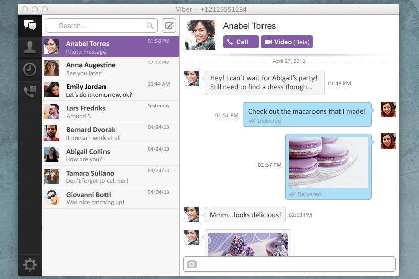 Viber Mac messages