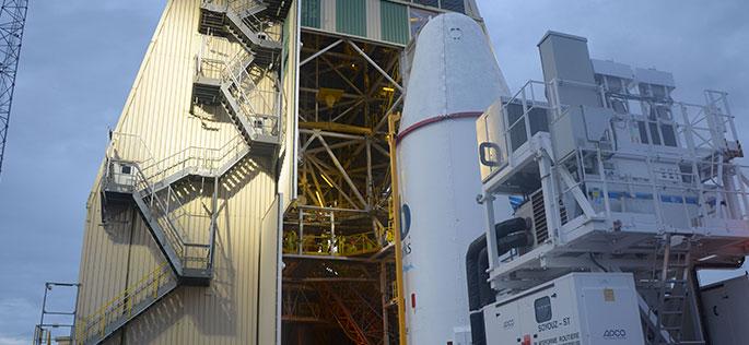Soyuz rocket on Gantry