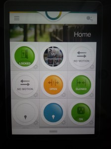 The SmartThings app showing my sensors.
