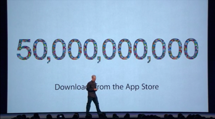 50 billion downloads iOS