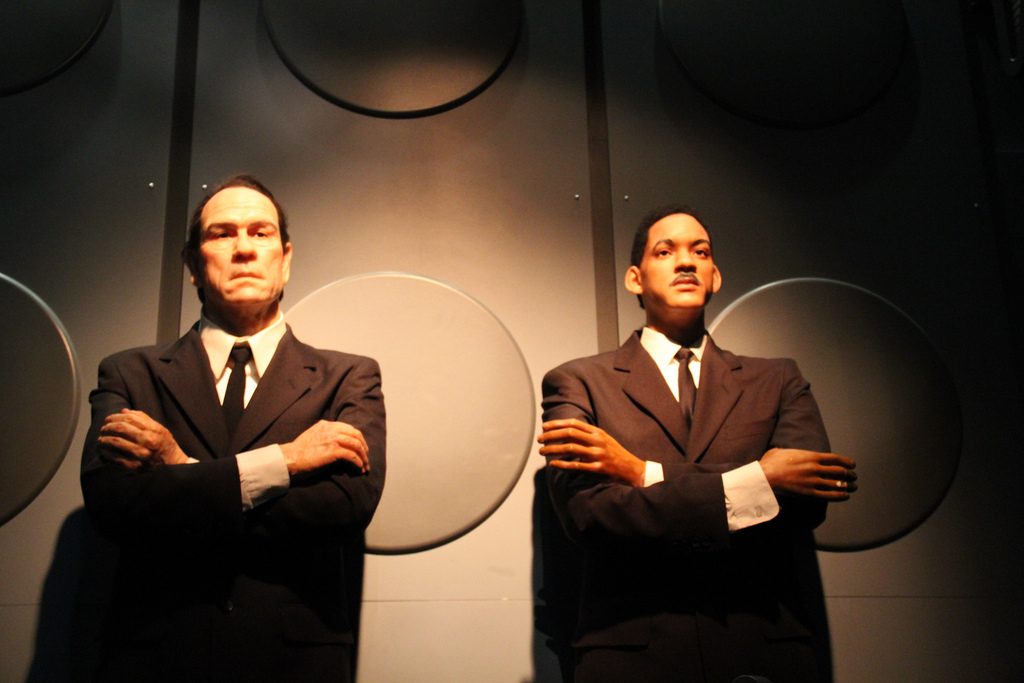 How scary is this Men In Black wax figures scene?