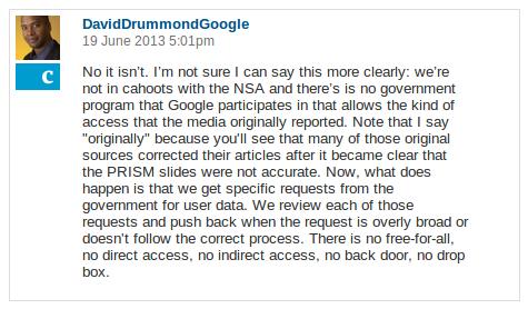 Drummond Q&A NSA