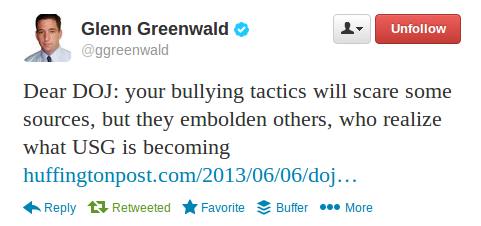 Greenwald tweet