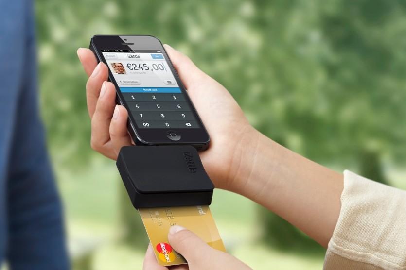 iZettle Chip&Mag reader iPhone