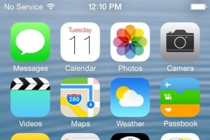 iOS 7 on iPhone 4