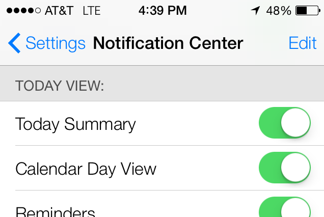 iOS 7 Today Locations