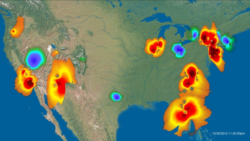 Twitter geo map