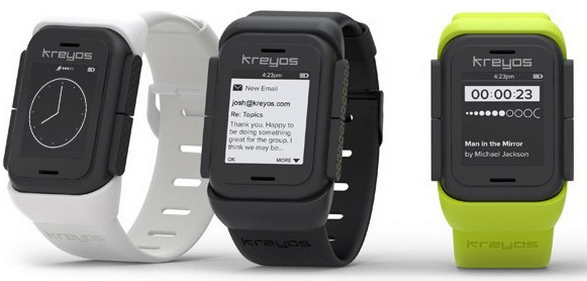 The Kreyos smartwatch, which some people have criticized for its size. Photo courtesy of Kreyos.