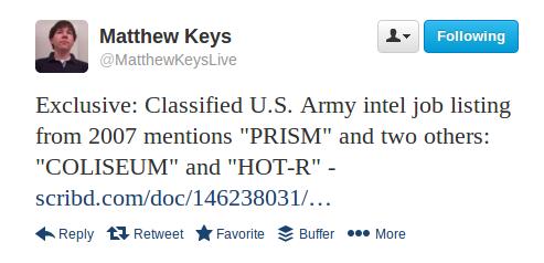 Matthew Keys tweet