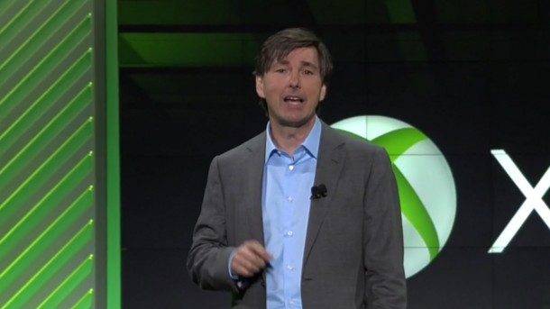 Microsoft's Don Mattrick onstage at E3 2013.
