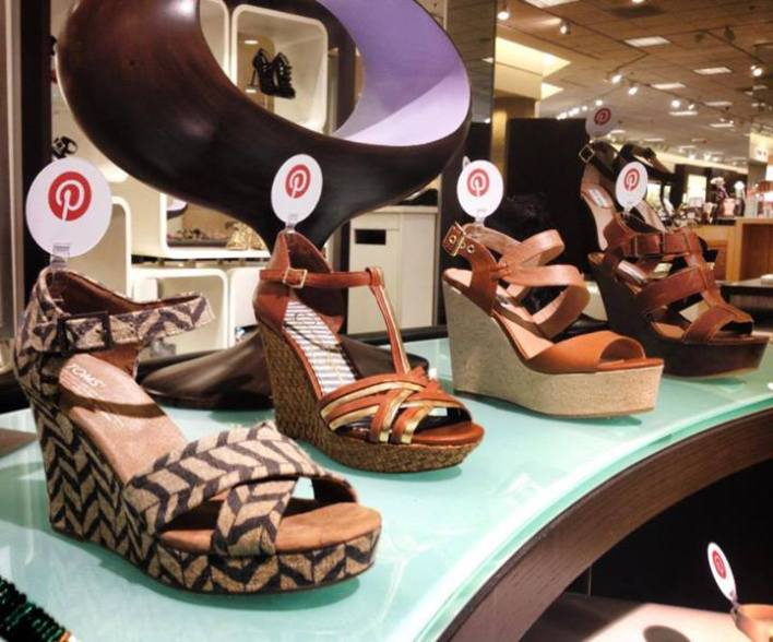 Shoes for sale in Nordstrom, identified by Pinterest popularity.