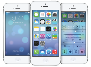 iPhone iOS 7 unveil homepage redesign flat design