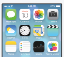 horizantal iPhone iOS 7 screenshot home screen