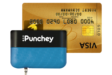 Punchey credit card reader