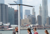 Goal Zero Pensa AT&T solar charging station NYC