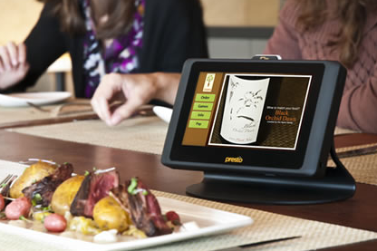 Presto E la Carte tablet for restaurants