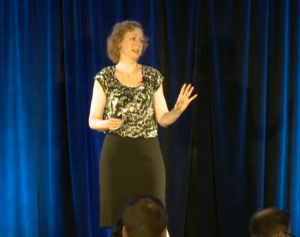 Jennifer Healey spoke at the annual Research@Intel event Tuesday. Intel