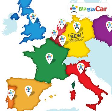 BlaBlaCar's expanding network. Image courtesy of BlaBlaCar.