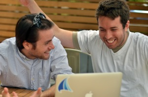 Michael Mayernick, left, and Adam Bonnifield, the founders of Spinnakr