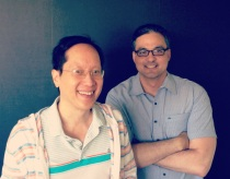 Lawrence Au, left, and Stephen Candelmo, the founders of Synapsify