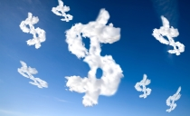 Tyler Olson clouds dollars money shutterstock_12004660