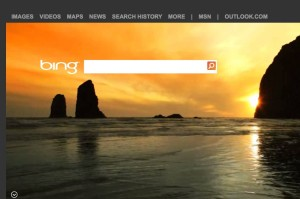 Bing screen