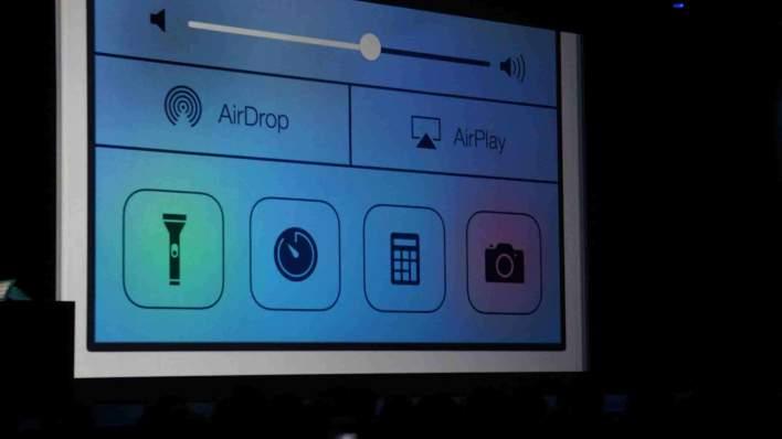 WWDC iOS 7 Control Center