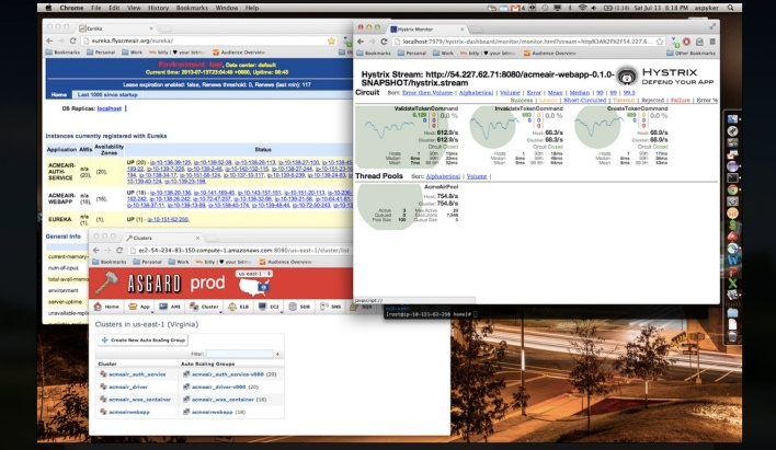 Screenshot of IBM's Acme Air sample app -- which gets a lot of help from Netflix OSS tools.