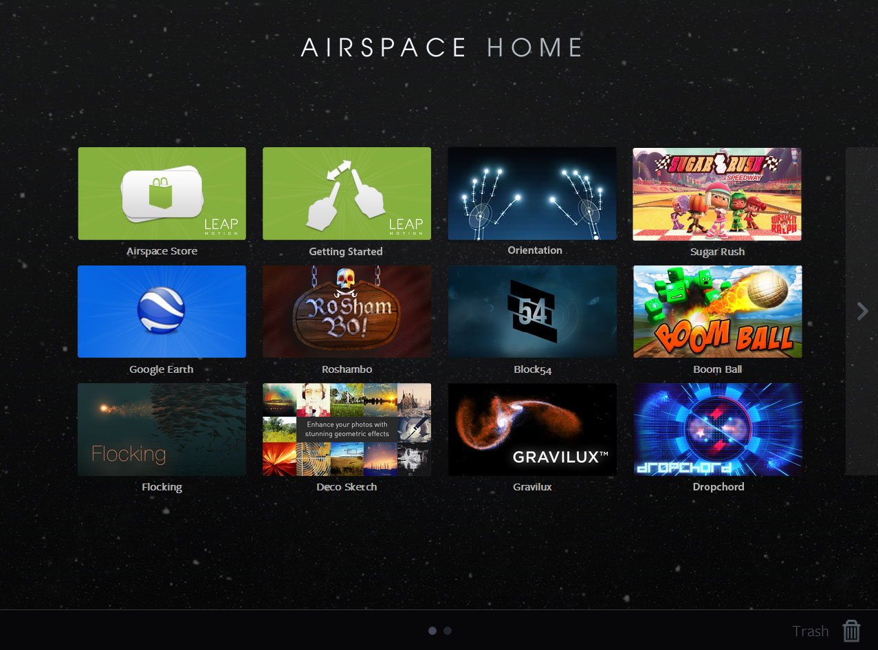 The Airspace Home screen.