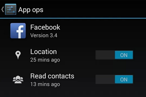 Android Facebook App Ops