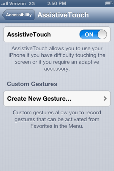 Assistive Touch Setup