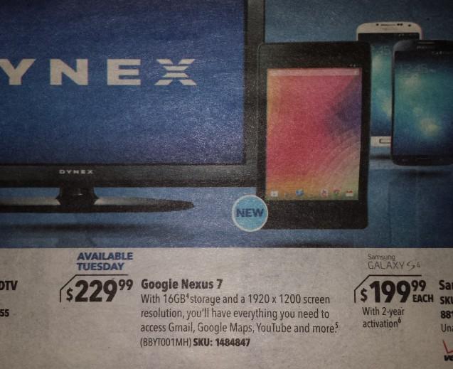 best buy Nexus 7 ad