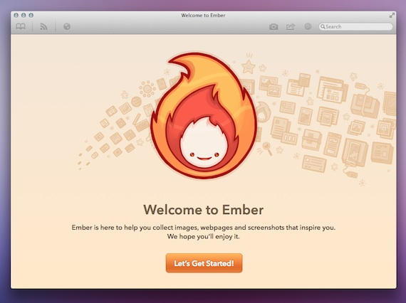 Ember for Mac - Welcome Screen