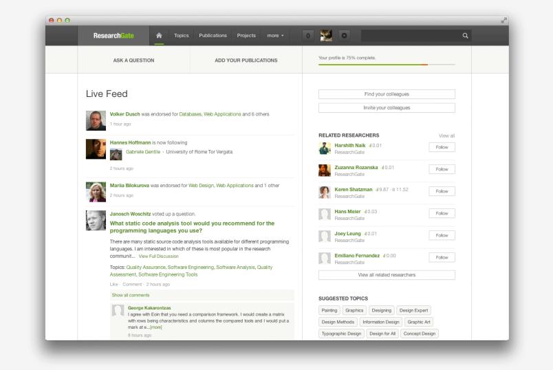 ResearchGate feed