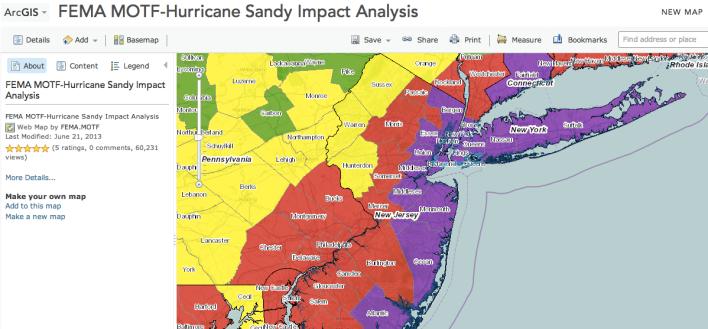 FEMA hurricane map Esri