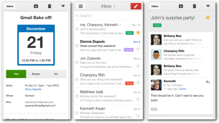 Gmail app for iOS