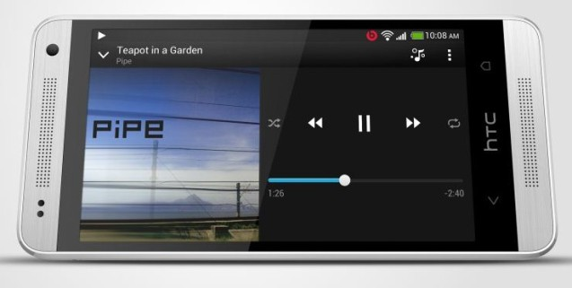 HTC One mini music player