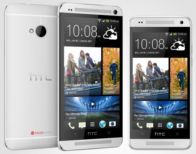 HTC One size comparison