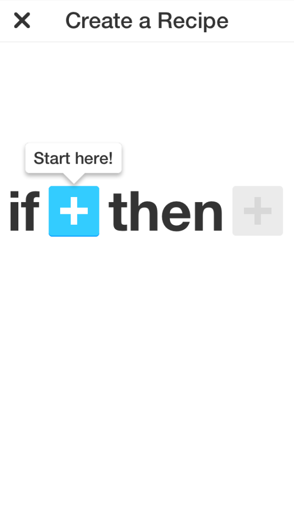 IFTTT for iPhone - Create a Recipe 01