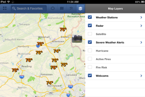 WunderMap iPad layers