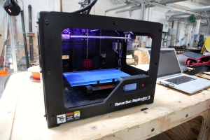 A MakerBot Replicator 2 3D printer. PHoto by Signe Brewster